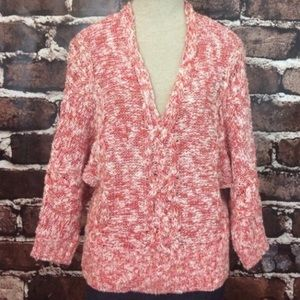 Anthropologie Geranium Sweater Cable Knit Small